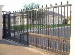 Откатные кованые ворота. фото №6