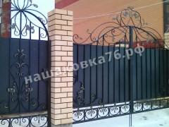 Распашные кованые ворота.фото №11