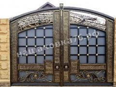 Распашные кованые ворота. фото №12