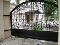 Откатные кованые ворота. фото №14