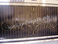 Откатные кованые ворота. фото №24