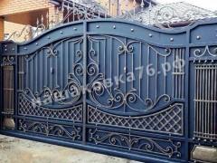 Откатные кованые ворота. фото №17