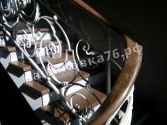 Кованые лестничные ограждения. фото №12