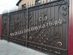 Распашные кованые ворота. фото №1а