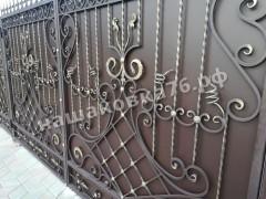 Распашные кованые ворота. фото №1в