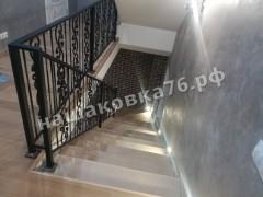 Кованое лестничное ограждение. фото №7в