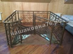 Кованая винтовая лестница.фото №6в