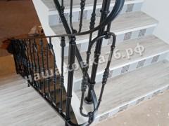 Кованые лестничные ограждения. фото №10а