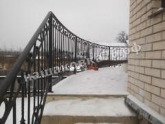 Кованые лестничные ограждения. фото №16